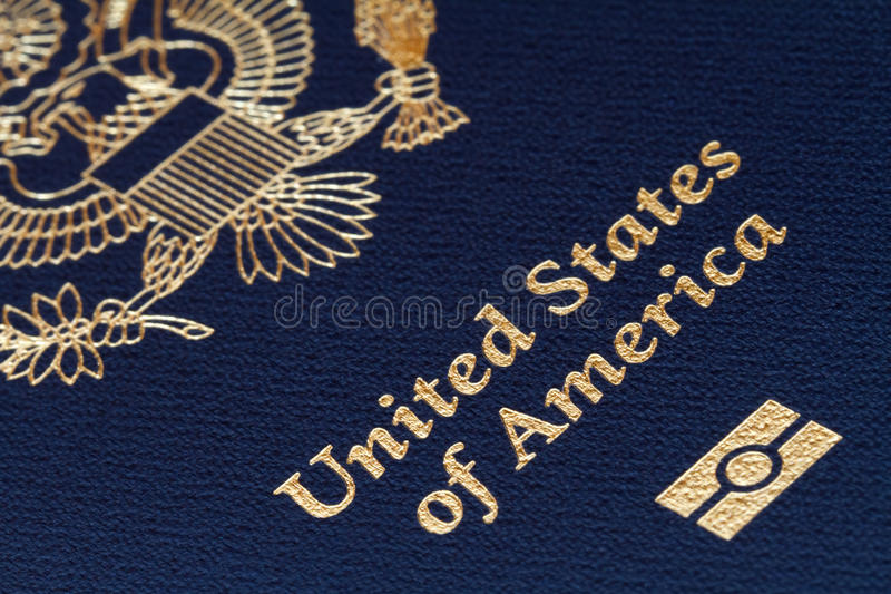 Us passport. Close-up of us passport stock images