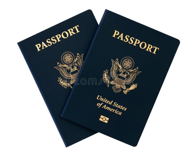 Us passports. On white background royalty free stock image