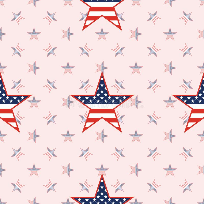 US patriotic stars seamless pattern on national. US patriotic stars seamless pattern on national stars background. American patriotic wallpaper with US royalty free illustration