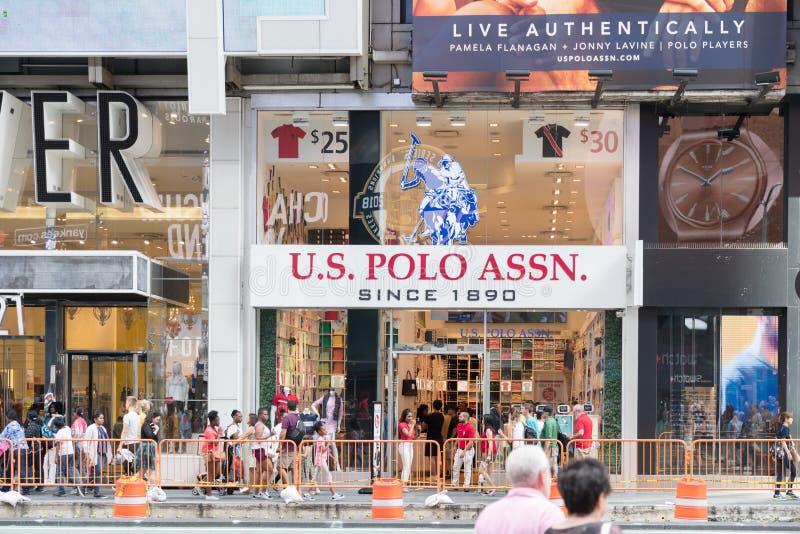 US-Polo VEREINIGUNG Speicherkleidung in New York City lizenzfreies stockbild