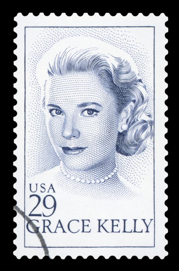 US - Postage Stamp. UNITED STATES OF AMERICA - CIRCA 1993: stamp printed by United states, shows Grace Kelly, circa 1993 stock images