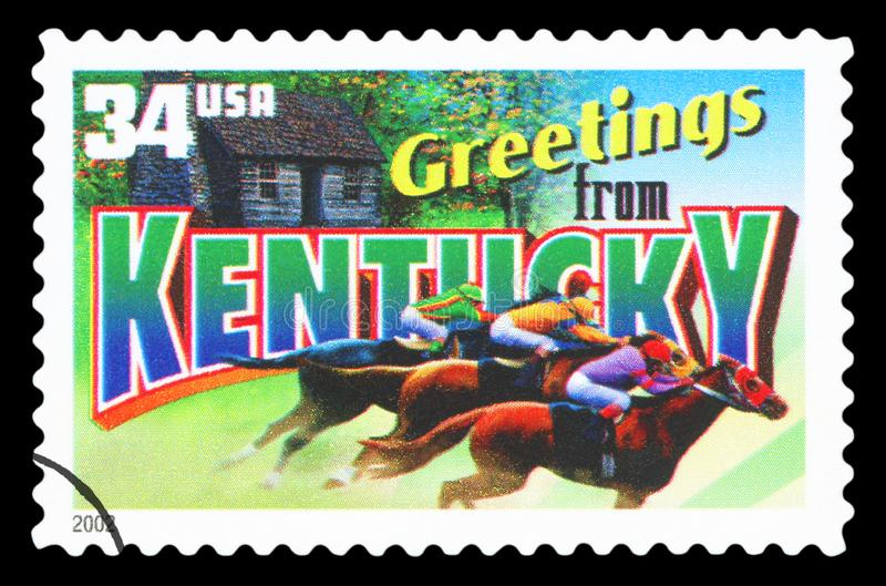 US - Postage Stamp. UNITED STATES OF AMERICA - CIRCA 2002: a postage stamp printed in USA showing an image of the Kentucky state, circa 2002 royalty free stock photos