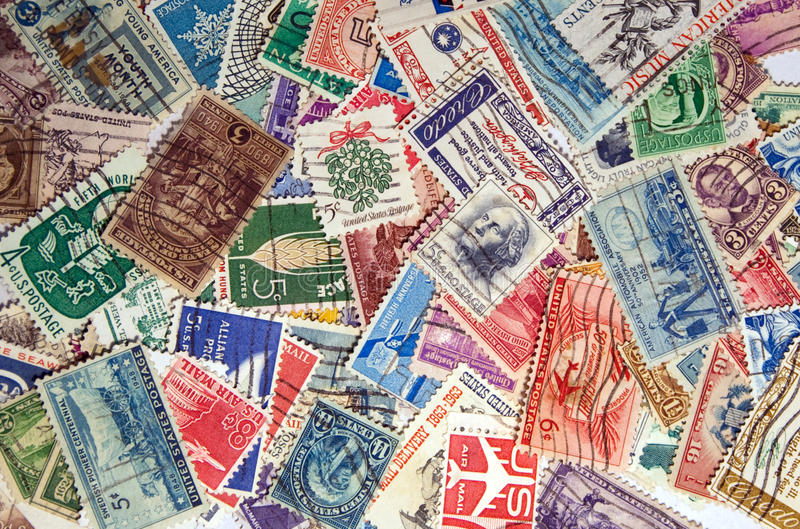 US Postage Stamps stock photos