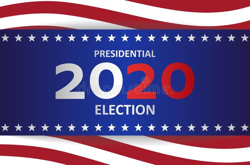 2020 US presidential election banner royalty free stock images