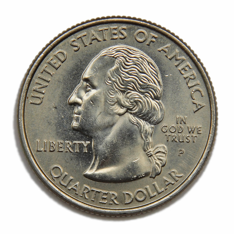 US quarter dollar. United States collection quarter dollar stock photo