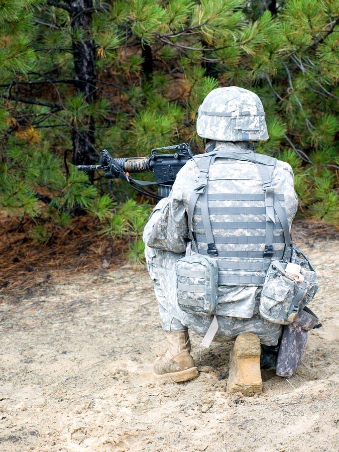 US-Soldat in der Tätigkeit stockfotos