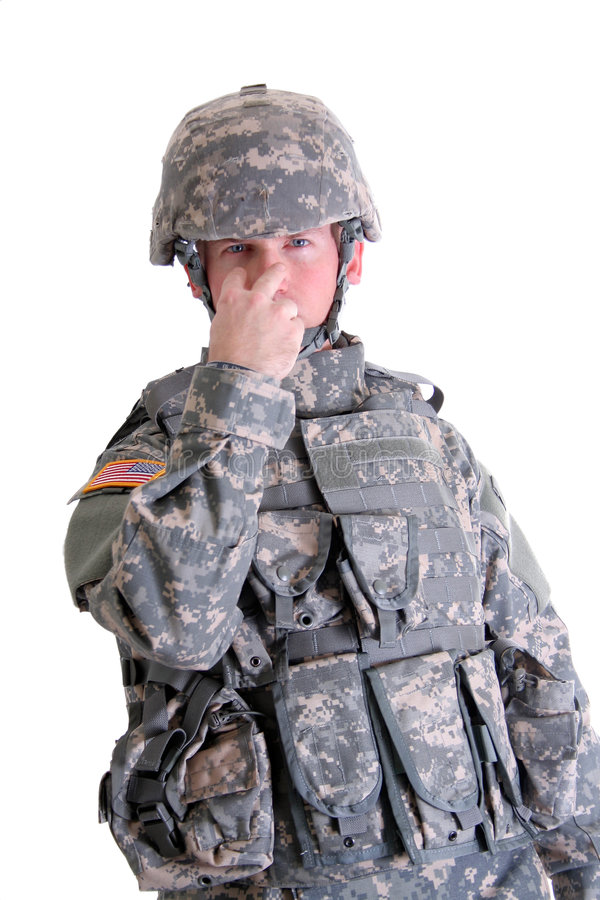 Free US Solder Security Signal Royalty Free Stock Images - 3078149