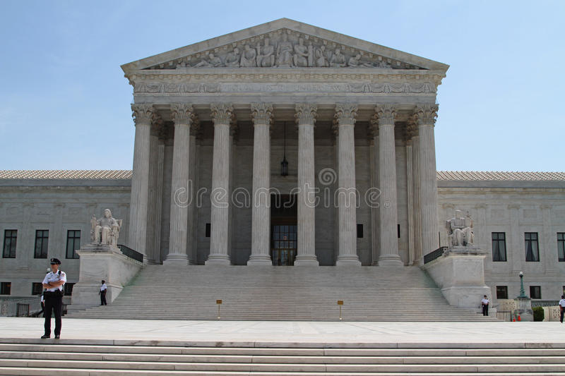 US Supreme court building stock image