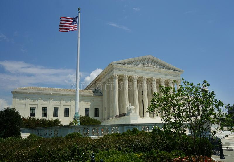 The US Supreme Court building in Washington DC stock image