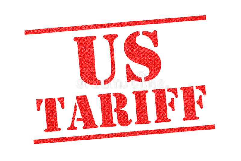 US TARIFF Rubber Stamp. US TARIFF red Rubber Stamp over a white background stock illustration
