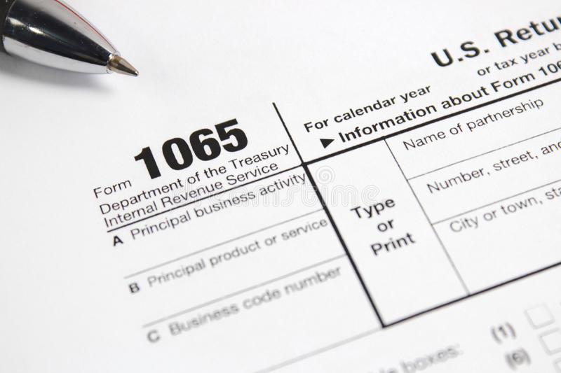 Us Tax Form 1065 On Table Editorial Photography Image Of