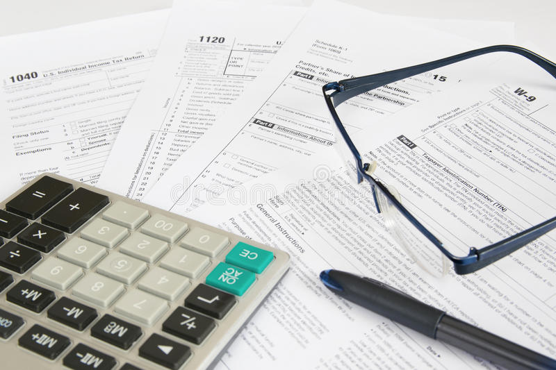 US Tax Forms 1 royalty free stock image