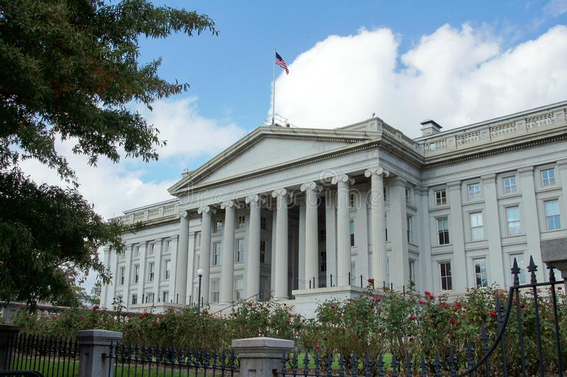 US Treasury Department. The US Treasury Department in Washington DC royalty free stock photos