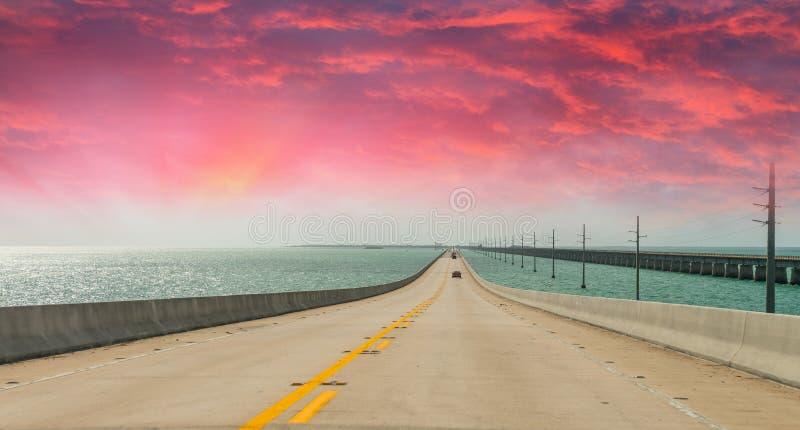 US1 Tusen staten van Florida, weg aan Key West stock foto's