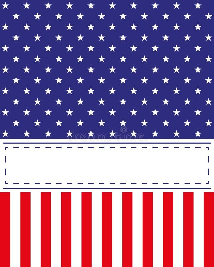 US-Unabhängigkeitstagkartenvektor lizenzfreie abbildung