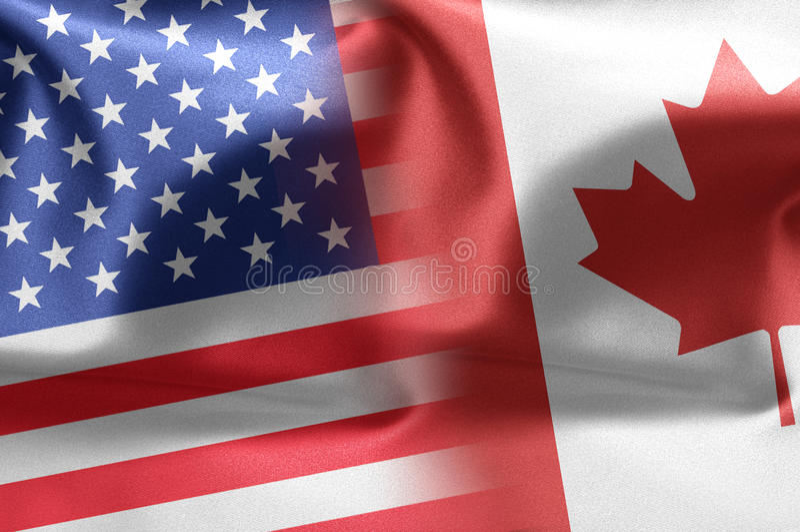 US und Kanada lizenzfreies stockfoto
