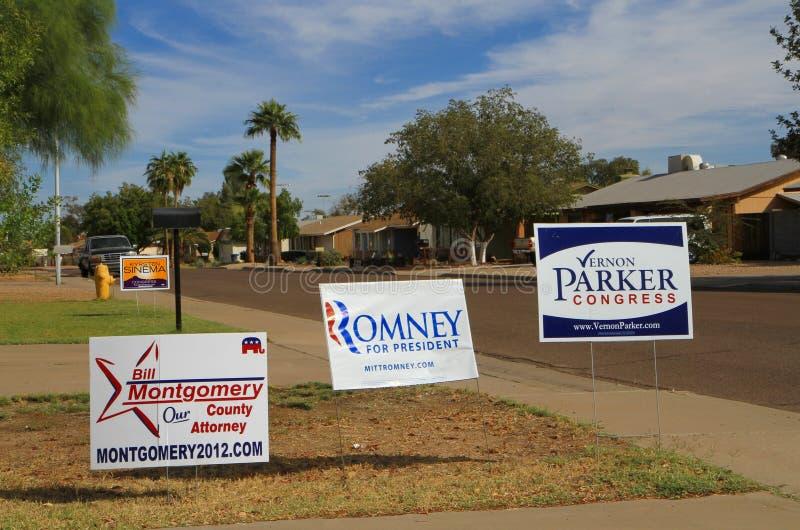 Us-val: Främre gårdaktion i Arizona royaltyfri bild