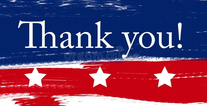 US-Veteranen und Gedenktage Gebürstetes amerikanisches Flaggendesign stock abbildung