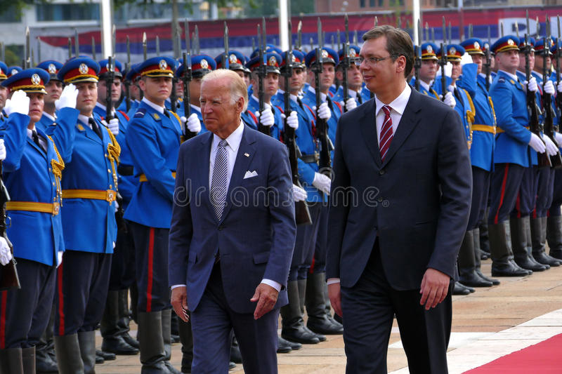 US Vice President Joseph 'Joe' Biden begins official visit to Belgrade. Belgrade, Serbia. 16th August, 2016. US Vice President Joseph 'Joe' Biden begins official stock image