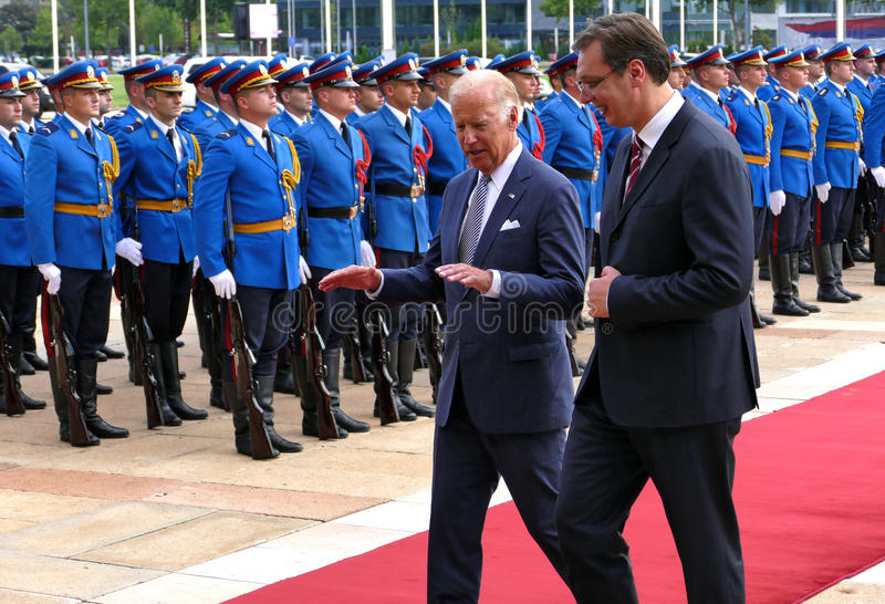 US Vice President Joseph 'Joe' Biden begins official visit to Belgrade. Belgrade, Serbia. 16th August, 2016. US Vice President Joseph 'Joe' Biden begins official stock photos