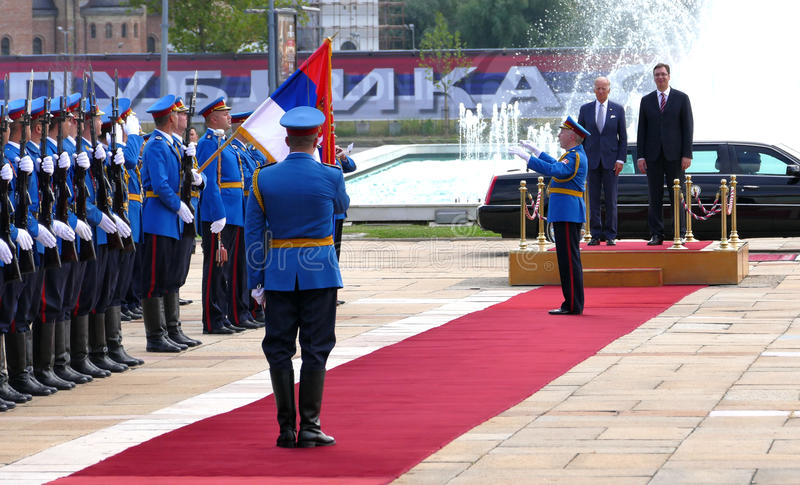 US Vice President Joseph 'Joe' Biden begins official visit to Belgrade. Belgrade, Serbia. 16th August, 2016. US Vice President Joseph 'Joe' Biden begins official stock photography