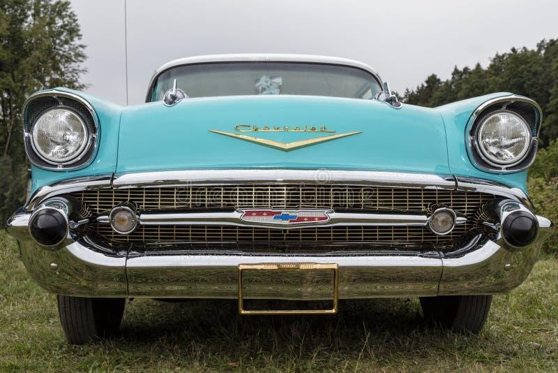 US vintage car, Chevrolet. Franken, Germany, 23 June 2018: US vintage car in Germany, Chevrolet royalty free stock photography