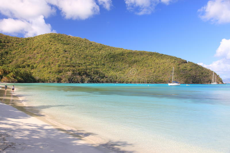 US Virgin Islands. Paradise-like US Virgin Islands in the Caribbean. Turquoise ocean and lovely landscapes., Paradise-like US Virgin Islands in the Caribbean royalty free stock photo