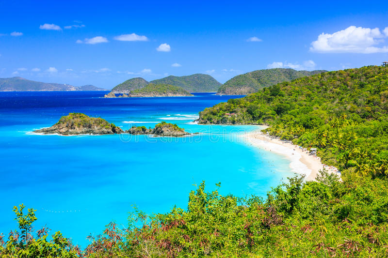 US Virgin Islands. Caribbean,Trunk Bay on St John island, US Virgin Islands stock images