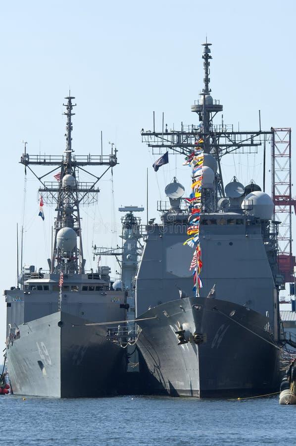 US Warships royalty free stock photography