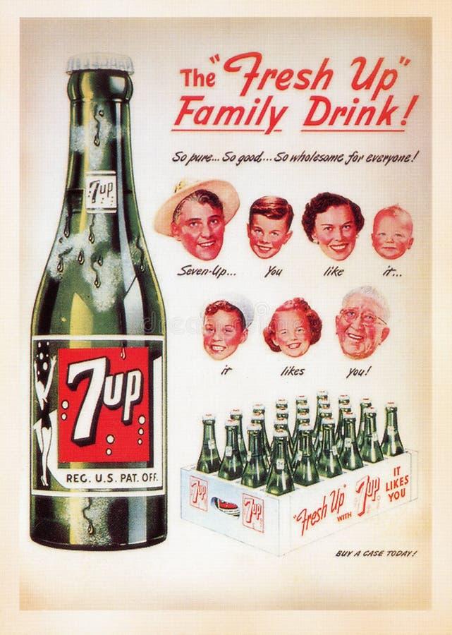 US-Weinlese-Plakatkarte lizenzfreie stockbilder