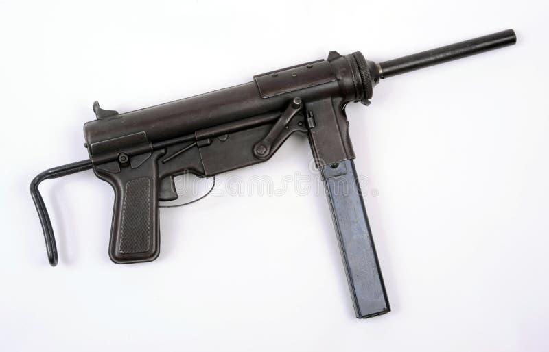 Download US WW11 M3 sub machine gun stock image. Image of weapon - 19529723