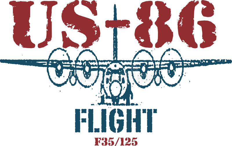 Us86 stock illustratie