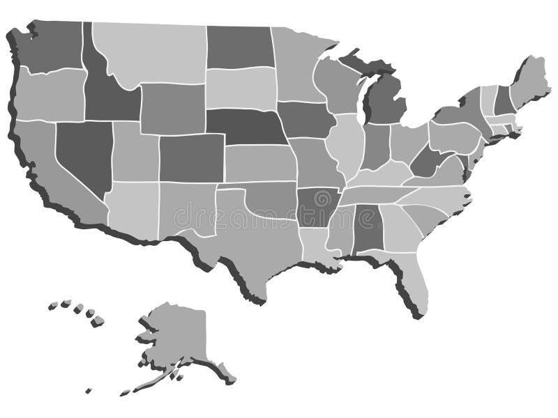 USA-översikt vektor illustrationer