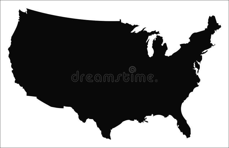 USA översiktsvektor stock illustrationer