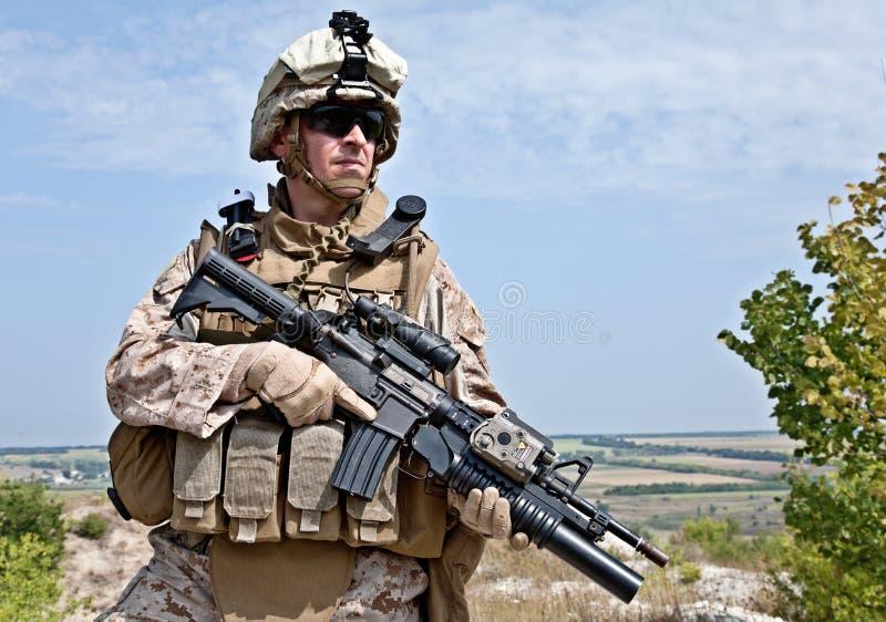 USA żołnierz piechoty morskiej zdjęcia stock