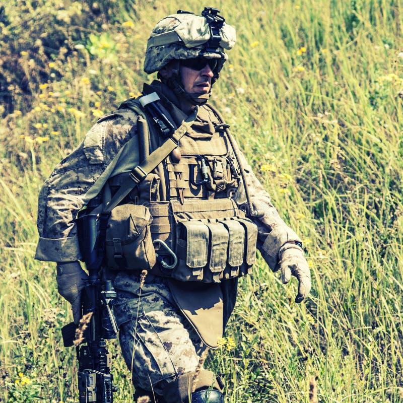 USA żołnierz piechoty morskiej obraz royalty free