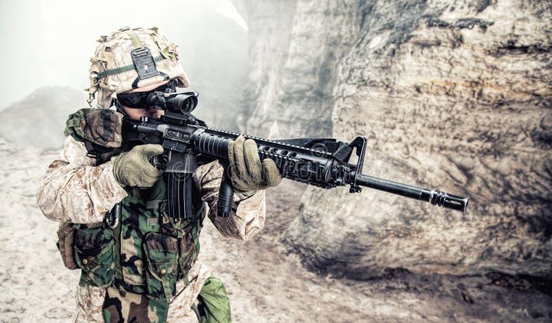 USA żołnierza piechoty morskiej żołnierz zdjęcia stock