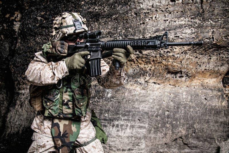USA żołnierza piechoty morskiej żołnierz obrazy royalty free