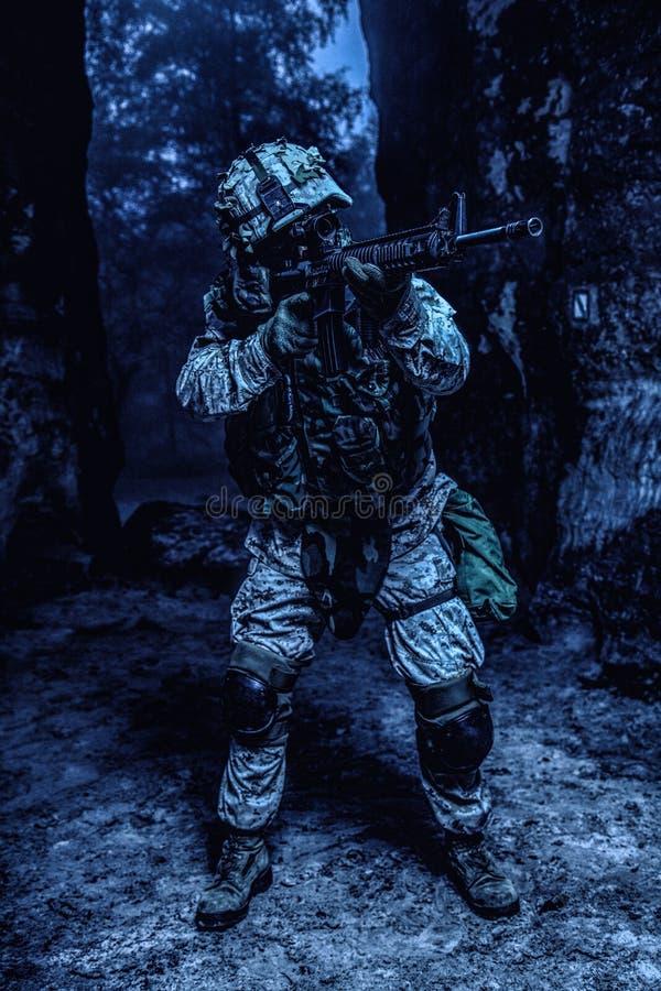 USA żołnierza piechoty morskiej żołnierz obraz royalty free