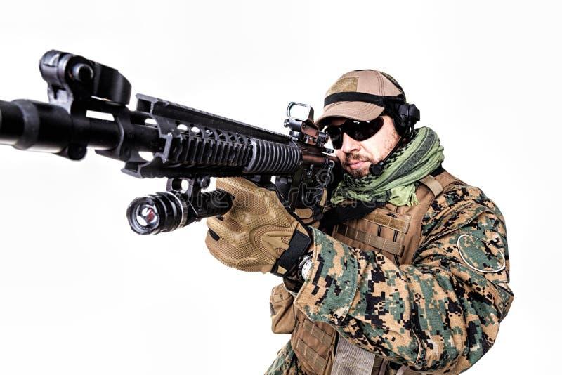 USA żołnierza piechoty morskiej żołnierz obraz stock