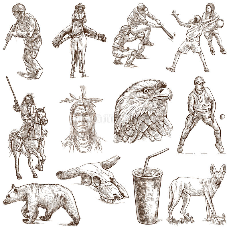 USA vektor illustrationer