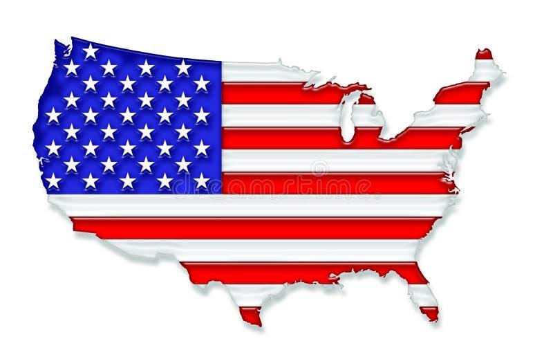 Download USA stock illustration. Illustration of white, national - 5695303