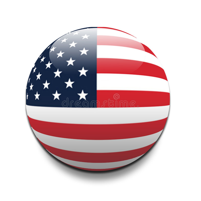 Usa. American flag - I have more flags in this style in my portfolio, please have a look vector illustration