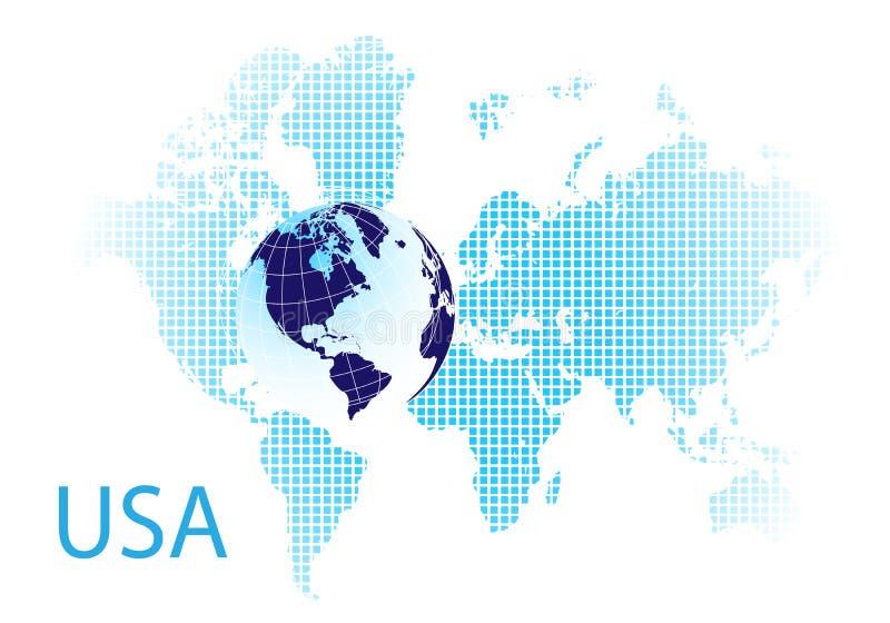 Download Usa stock vector. Illustration of earth, grid, internet - 7552318