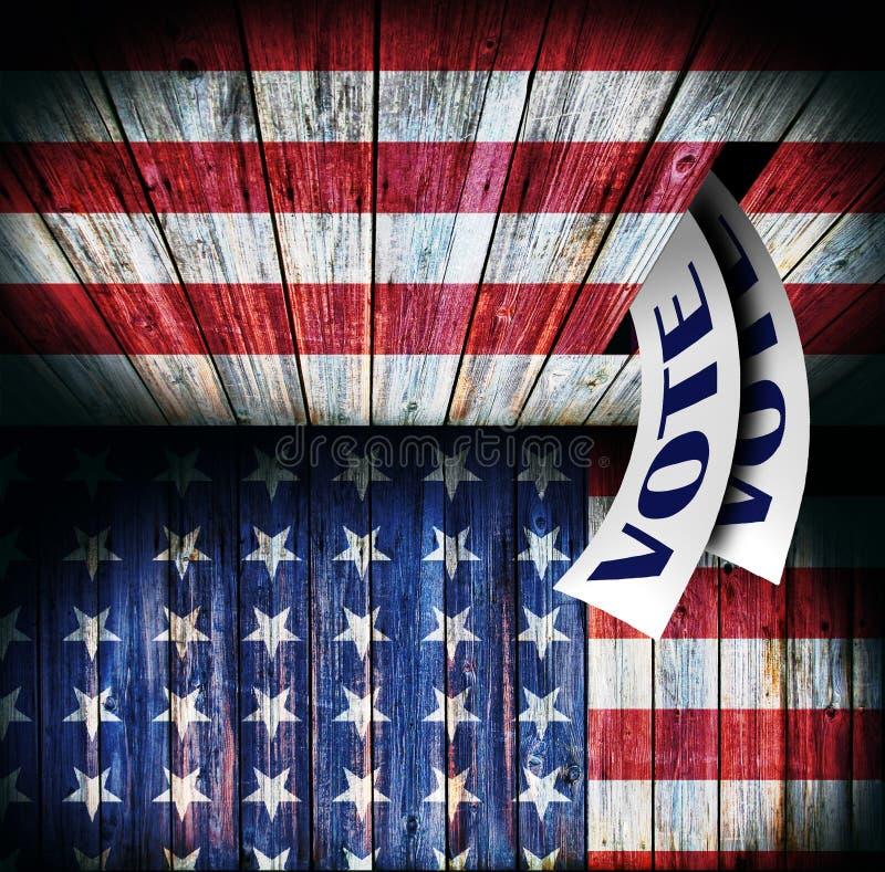 USA, Abstimmungskonzeptdesign stockfoto