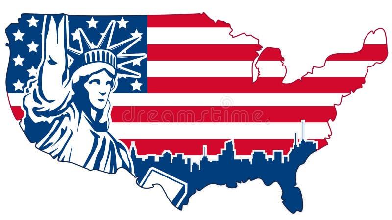Download USA Abstrakcjonistyczna Mapa Odizolowywająca Na Bielu Ilustracja Wektor - Ilustracja złożonej z flaga, arte: 53791868