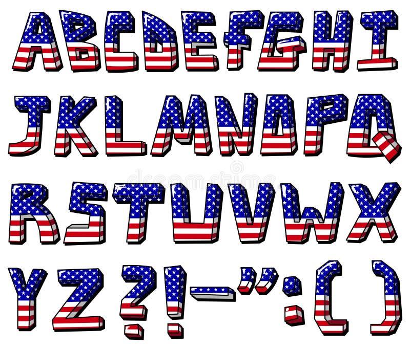 Download Usa alphabet stock vector. Image of cartoon, fourth, flag - 19835489