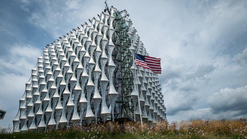 USA ambasada w Dziewięć wiązach, Londyn zdjęcia royalty free