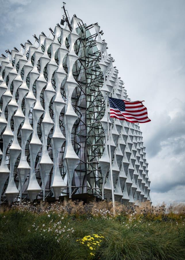 USA ambasada w Dziewięć wiązach, Londyn obrazy royalty free