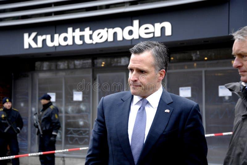 USA AMBASSAOR RUFUS GIFFORD CNN NIC ROBERTSON. Copenhagen-Denamrk _USA Ambassador in Denmark Rufus Gifford visit the place Krudttonder cafe where firsrg short stock images